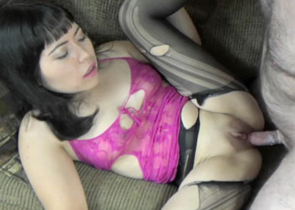 Yuka gets fucked in torn pantyhose